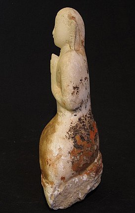 Antique alabaster Monk