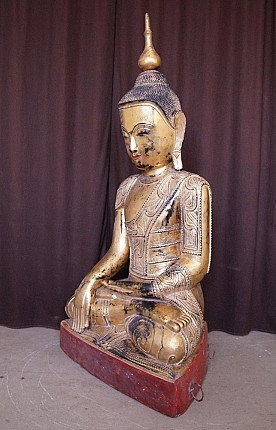 Antique lacquer Shan Buddha