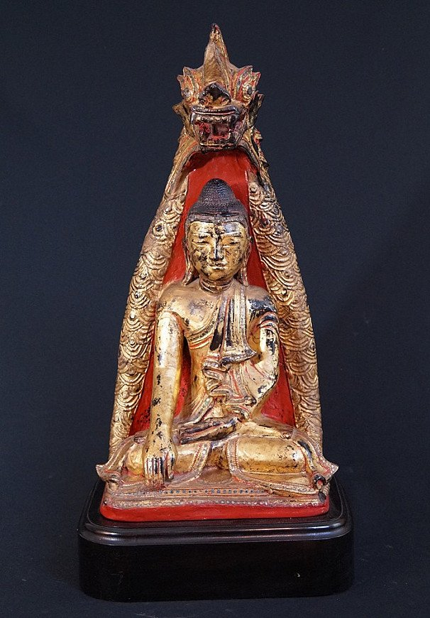 Antique Shan Buddha with Naga