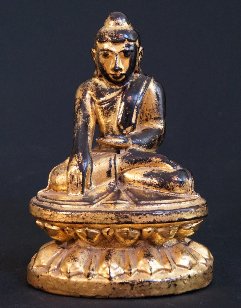 Antique Lotus Buddha from Burma