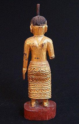 Antique wooden Burmese Nat