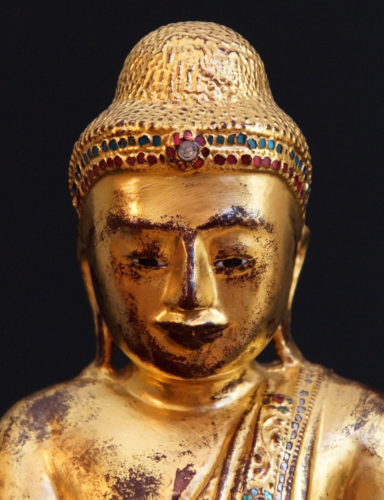 Antique Mandalay Buddha from Burma made from Wood