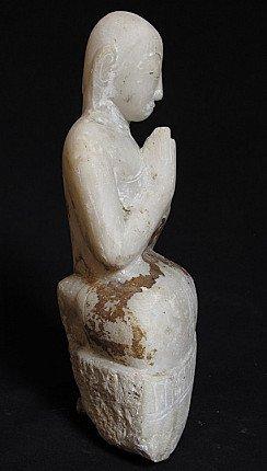 Antique marble monk