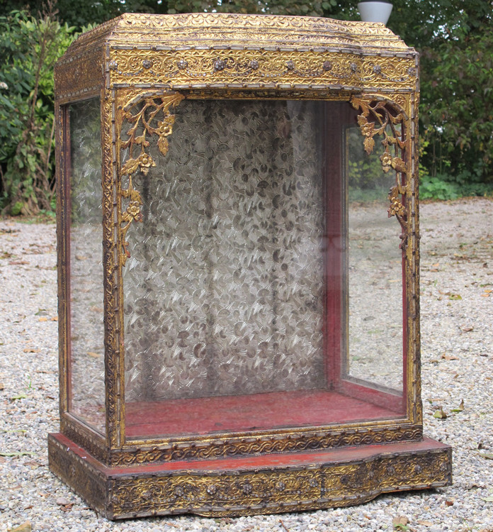 Antique Buddha temple from Burma made from