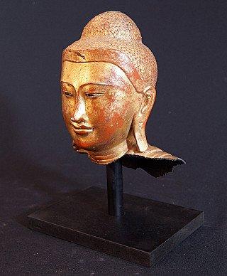 Antique bronze Buddha head