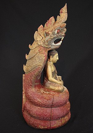 Old Buddha on Naga snake