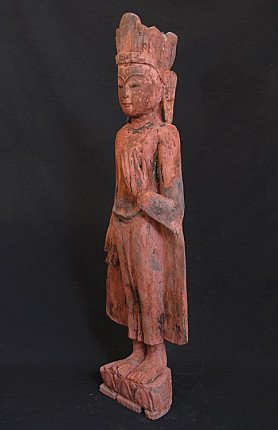Antique Burmese Crowned Buddha