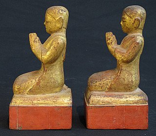 Set of antique monks
