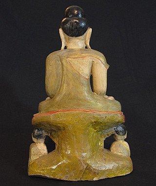 Old limestone Buddha