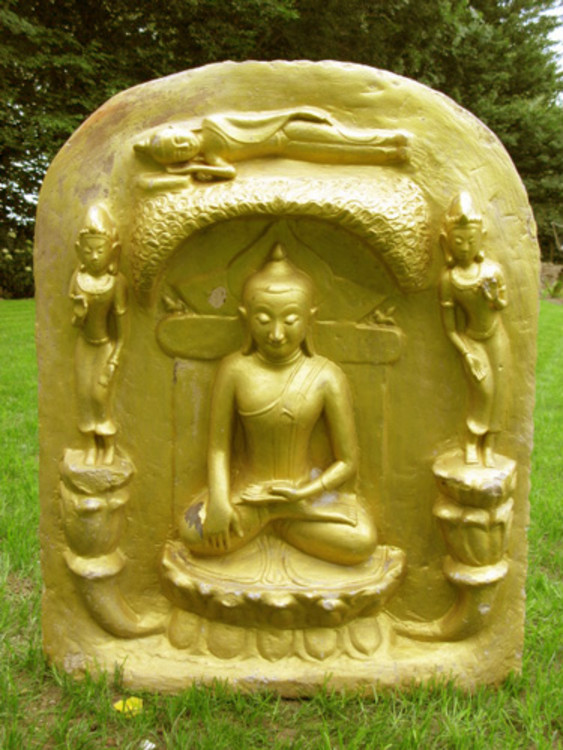 Old Buddha plate from Burma