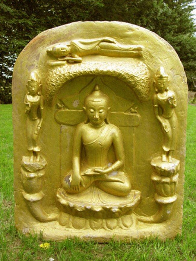 Oude Boeddhaplaat