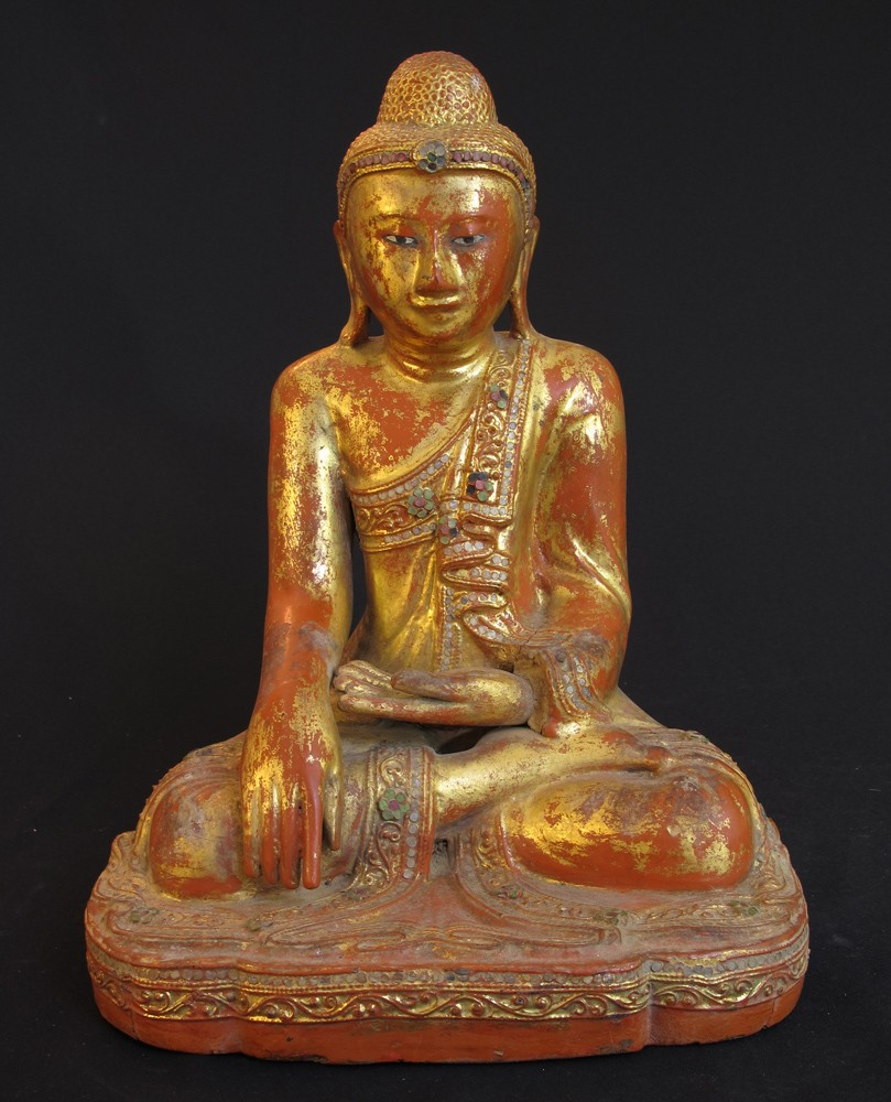 Antique Myanmar Mandalay Buddha from Burma