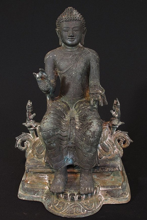 19. Jahrhundert Bronze Buddha