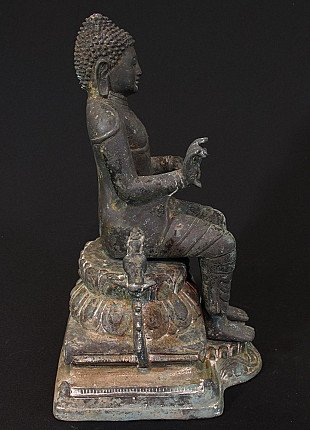 19e eeuwse bronzen Boeddha