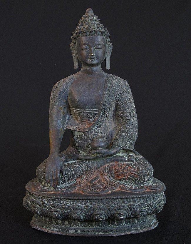Bronzen Boeddhabeeld