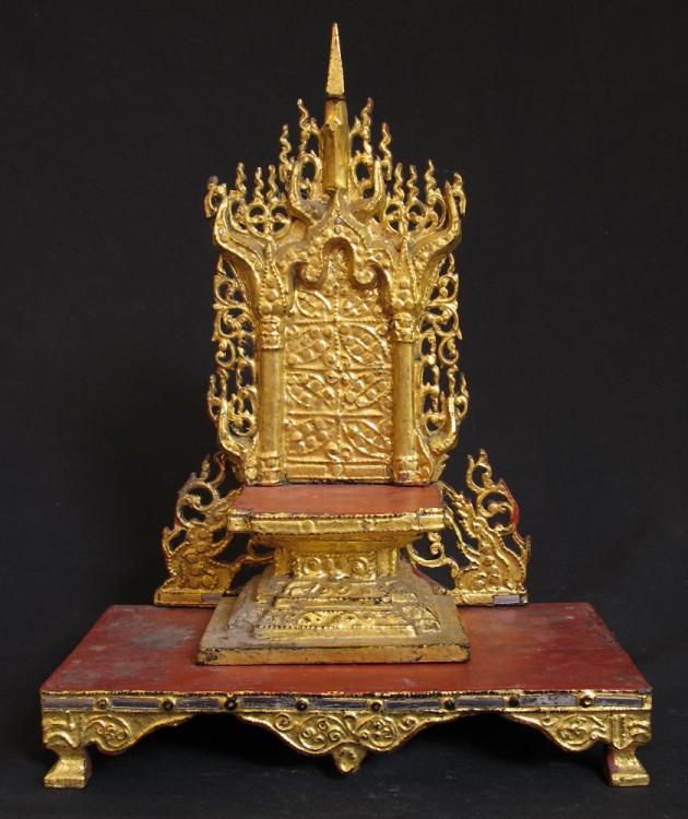 Buddhist Wedding Altar: Antique Buddha Altar From Burma, Made From Wood