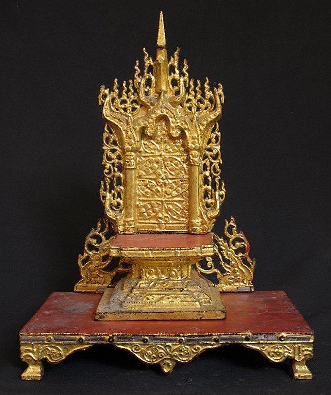 Antique Buddha altar