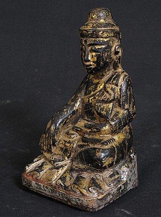 Antiker holzerner Buddha Figur