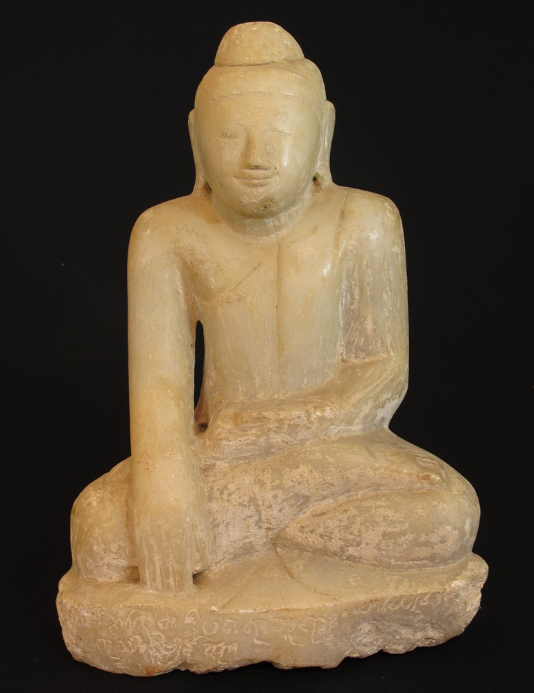 Antique marble stone Buddha from Burma