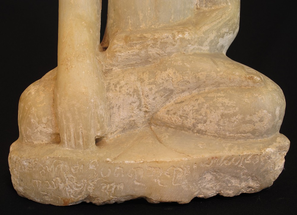 Antique marble stone Buddha from Burma made from Marble