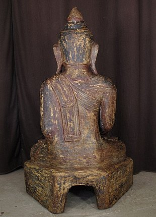 19th century sandstone Buddha