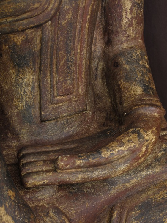 Antique sandstone Buddha from Burma