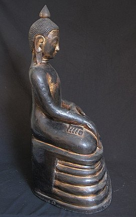19th century lacquerware Buddha