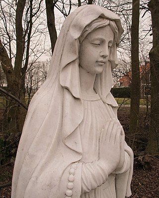 Large marble Maria statue - Mother Mary