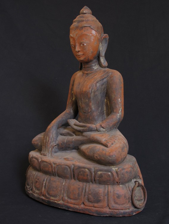 Antique Burmese Ava Buddha from Burma made from Wood