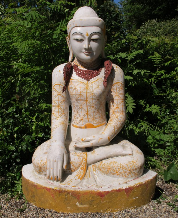 Large marble Buddha from Burma
