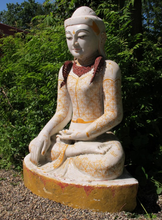 Large marble Buddha from Burma made from Marble