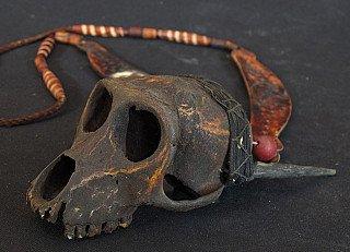 Old Naga necklace with monkey-skull