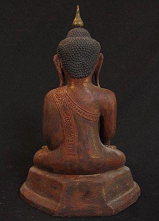 Oude lakwerk Boeddha