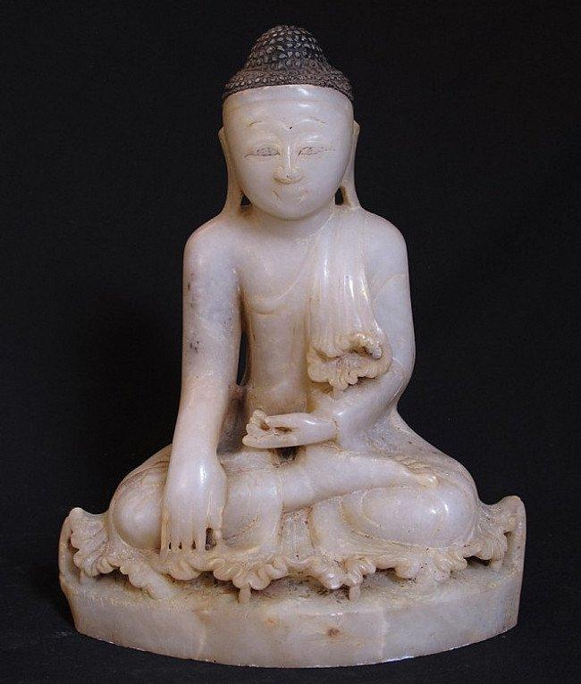 Old Alabaster Buddha