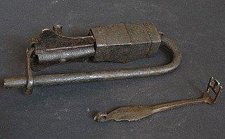 Antique temple-lock