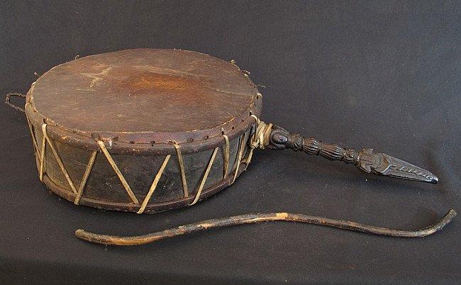 Old Nepali drum - tantric drum