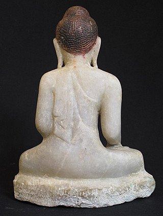 Antiek alabaster Boeddhabeeld