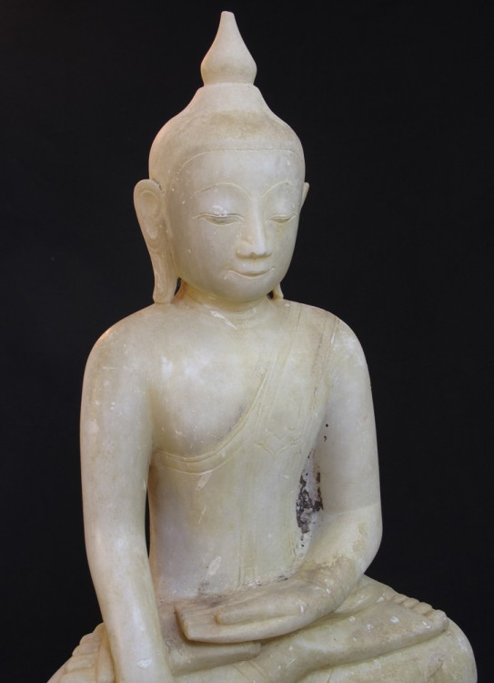 16-17th century Burmese Buddha from Burma made from Marble