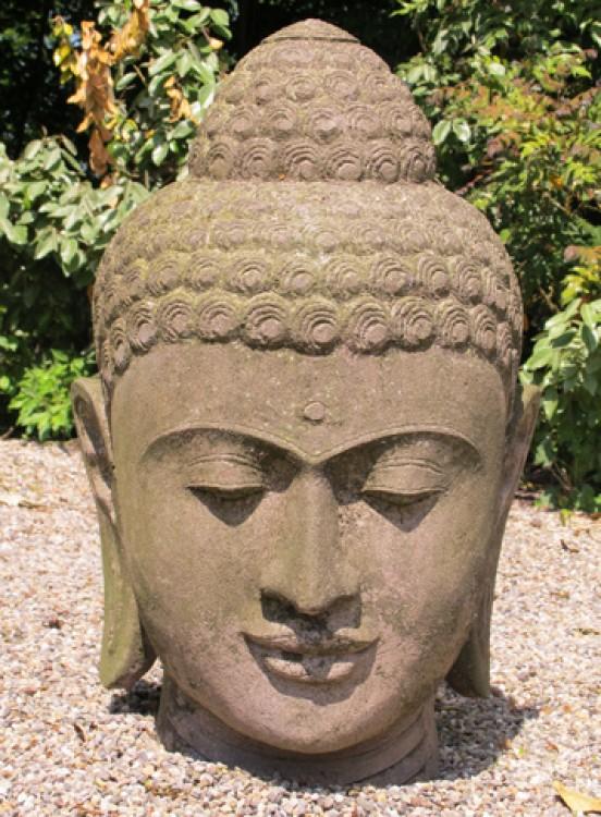 lavastein buddha kopf aus indonesia gemacht aus lavastein. Black Bedroom Furniture Sets. Home Design Ideas