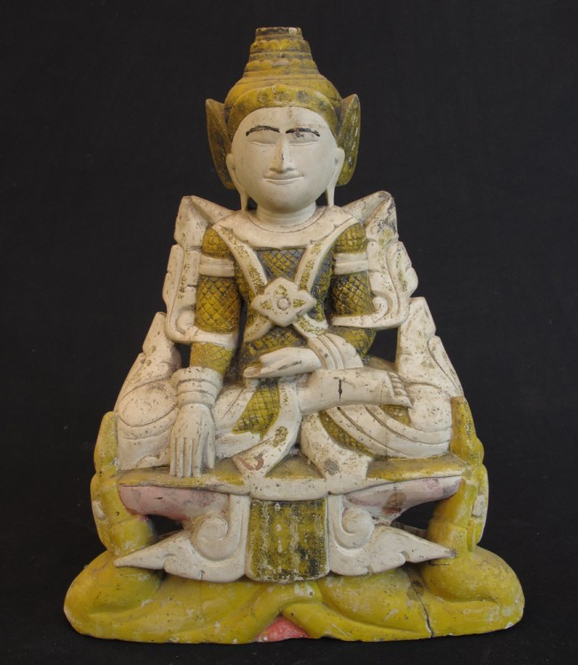 Antique limestone Buddha from Burma made from Limestone